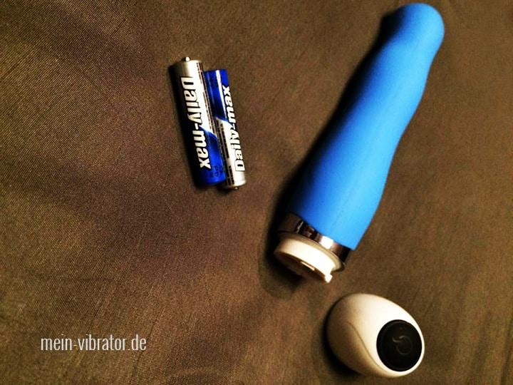 MOQQA Wave blau Gesamtansicht Batterienfach offen