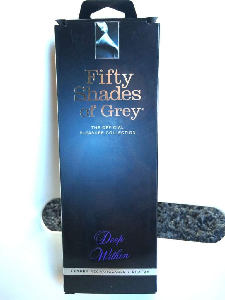 Fifty Shades of Grey G-Spot Vibrator Gesamtansicht mit Verpackung Front